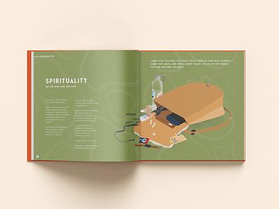 Wild World spread procreate indesign graphic design illustration design