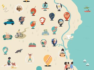 The Rona Response Map (Section) icon minimal photoshop procreate vector illustrator graphic design illustration design