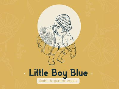 Little Boy Blue minimal logo branding procreate vector illustrator graphic design design illustration