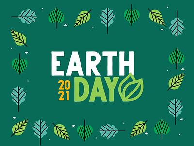 Earth Day Branding flat logo minimal branding vector illustrator graphic design design illustration