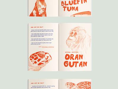 Endangered Species Zine procreate indesign layout graphic design design illustration