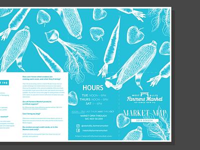 City of West Allis Farmers Market Map vector illustrator graphic design design illustration