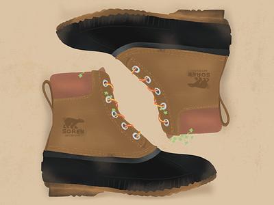 Boot Illustration procreate illustration