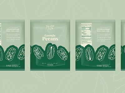 Tree-Ripe Fruit Co Pecan/Pistachio Packaging packaging branding vector illustrator graphic design design illustration
