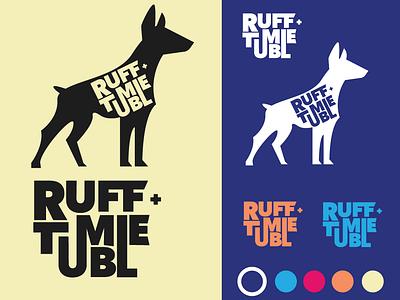 Ruffntumble Branding illustration typography branding vector logo design
