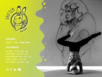 Drifter Wall Hours illustrator yoga graphic design photoshop illustration design