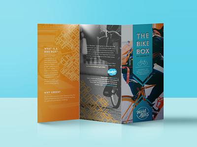 Bike Box Brochure typography photoshop illustrator graphic design illustration branding design