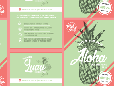 Employee Picnic Invitations illustration design procreate photoshop illustrator