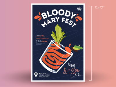 Bloody Mary Fest procreate vector graphic design photoshop illustrator branding illustration design