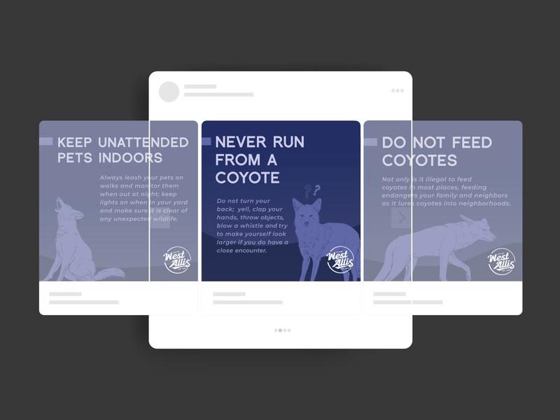 Urban Coyotes Social Mockup procreate vector graphic design illustrator design illustration