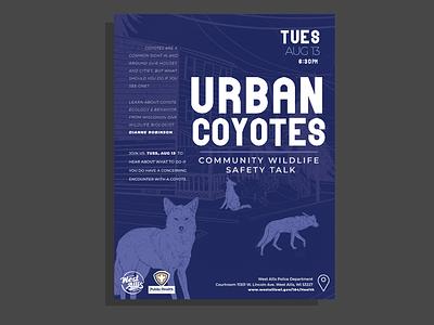 Urban Coyotes Talk Poster procreate vector graphic design illustrator illustration design