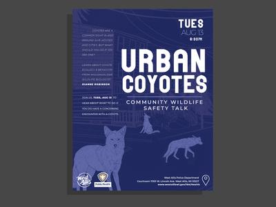 Urban Coyotes Talk Poster