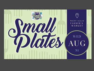 Small Plates branding vector graphic design illustrator illustration design