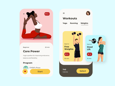 Workout of the Day dailyui