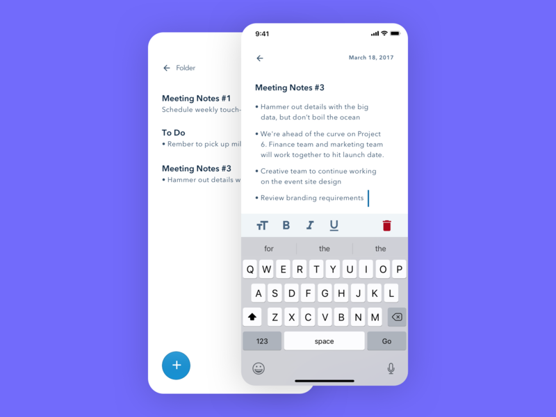 Notes Widget dailyui