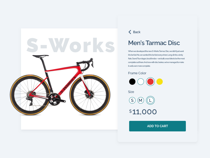 Daily UI - Day 033 - Customize Product dailyui