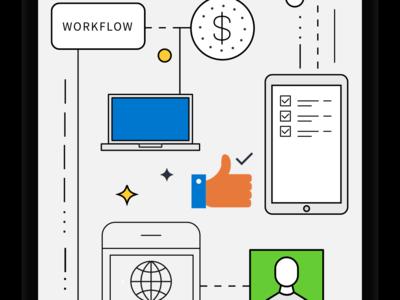 Mobile Workflow Illustration