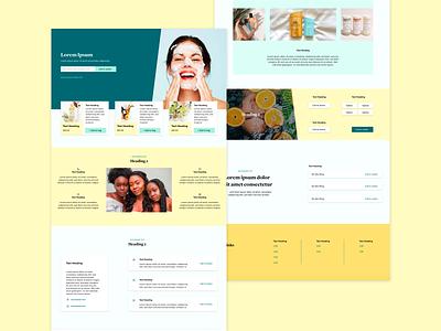 Skincare Landing Page fresh colors uxdesign uidesign web ui adobexd product design cosmetic mockup uiux ux ui web  design inspiration web design