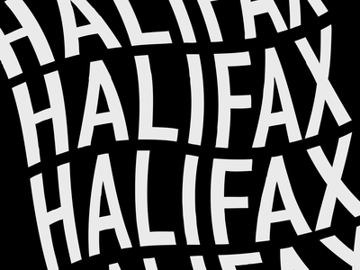 Halifax Typography Design typedesign illustration type system black and white font design font wavy graphic design typography design halifax adobe illustrator typography