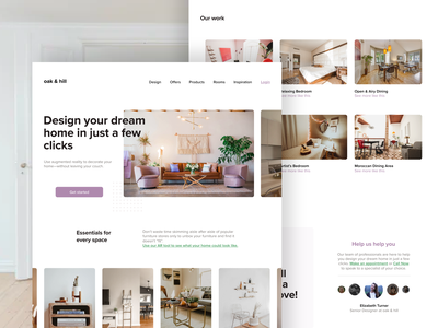 Design your dream home with AR adobexd front page landing page web design uiuxdesign uiux purple structube boho minimalist interior decorator decor furniture ikea interior design real estate logo real estate mockup augmented reality