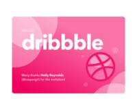 Hello Dribbble — First Shot