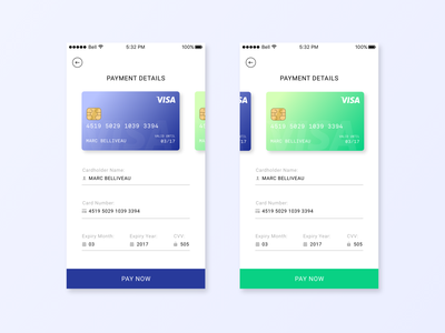 Credit Card Checkout — Daily UI mobile app design interface ui form visa dailyui 002 daily ui dailyui daily 100 challenge credit card payment credit card app ui