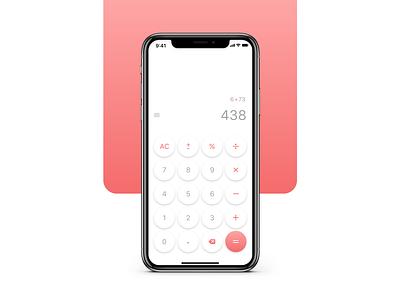 Calculator — Daily UI daily ui 004 product design ui  ux calculator ui ios mobile interface calculator app ui app design adobexd uiux design daily 100 challenge app dailyui