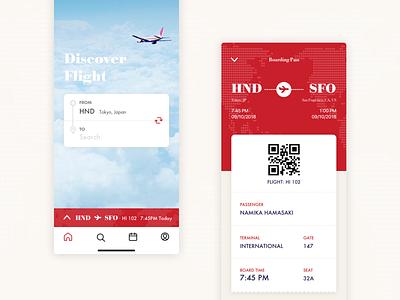 Daily UI #024 Boarding Pass boardingpass airline travel flight ticket mobile dailui dailyui