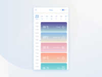Daily UI #37 Weather app