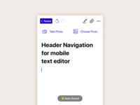 Daily UI #53 Header Navigation