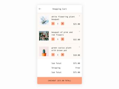 Daily UI #58 Shopping Cart