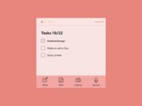 Daily UI #65 Notes Widget