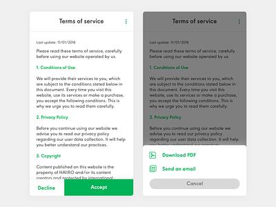 Daily UI #89 Terms of Service mobile ui dailyui
