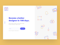 Daily UI #100 Redesign Daily UI Landing Page  🎊