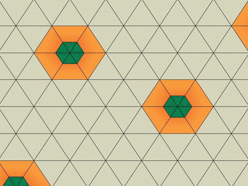 Daily Pattern #009 Persimmon adobe illustrator geometric design geometric graphic art fruits pattern graphic pattern daily pattern