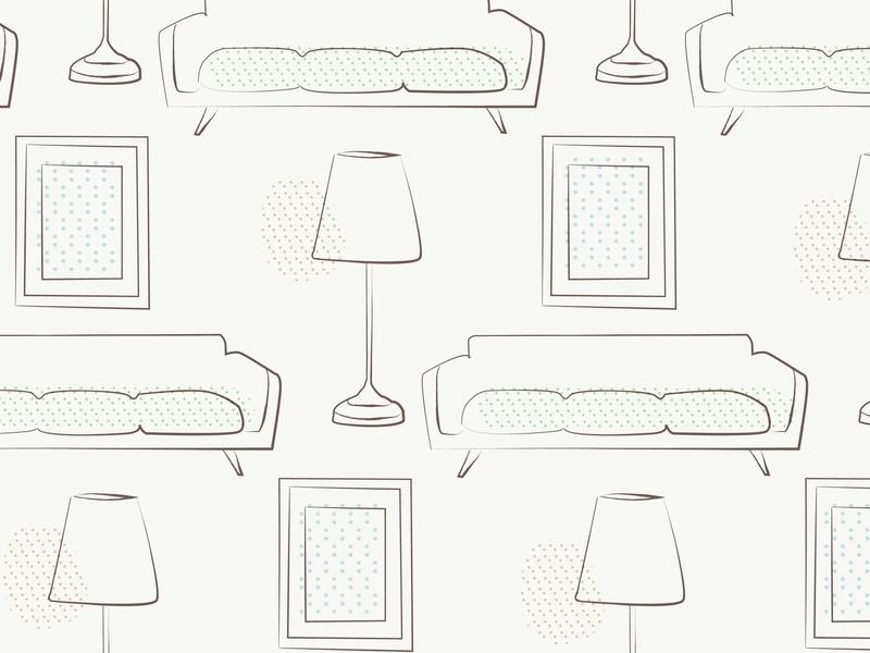 Daily Pattern #010 Furniture adobe illustrator daily challange daily 100 illustration furniture graphic  design graphic pattern daily pattern