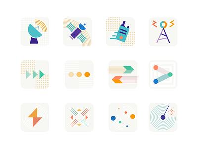 Dispatch™ Icon Explorations figma graphic design logo exploration icon all turtles