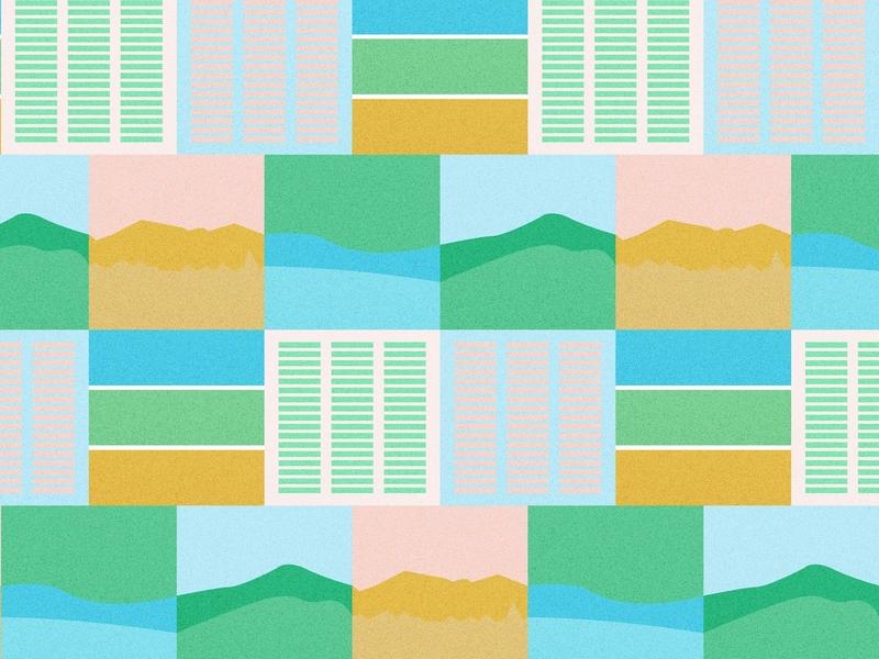 Daily Pattern #018 Landscape illustration pattern graphic pattern graphic art graphic design daily challenge daily pattern