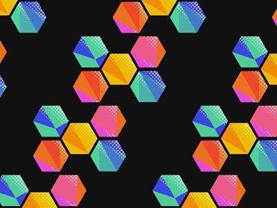 Daily Pattern #019 Hexagon geometric pattern graphic art graphic design daily challenge daily pattern