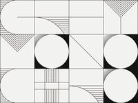Daily Pattern #022 Grey/Monochrome