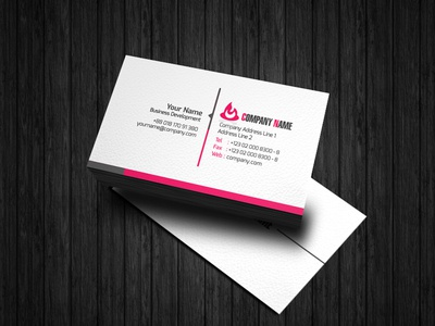 Professional simple business card Design