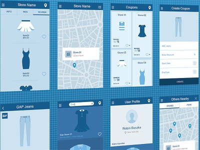Store wireframes ui ux wireframe iphone app android app blackberry concept logo design business app consumer app