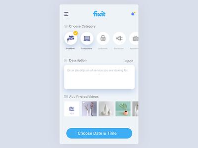 Select Services ui design iphone