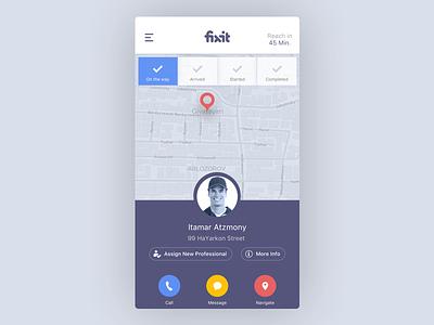 Request a professional profile screen iphone ui ui esign services iphone app
