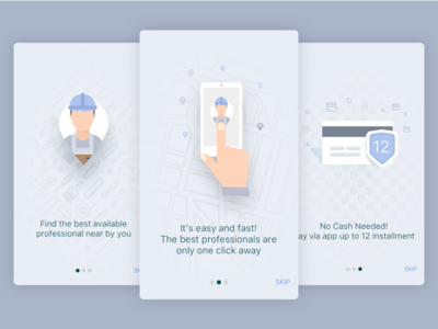 Onboarding Screen location services customer professional onboarding screen ios app