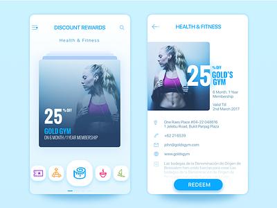 Discount Rewards detail listing ios ui ipone app redemption rewards
