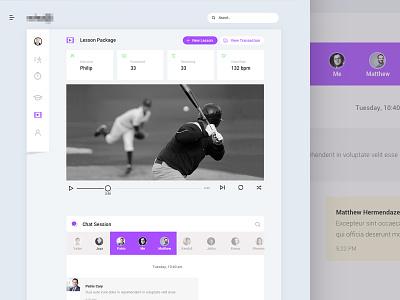 Baseball Training Program minimal ui baseball app colourful ui fitness app