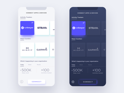 Connect Fitness Trackers flat ui wireframe design uiux design fitness app ui design iphone app clean ui colorful
