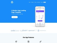 Bepza - Modern App Landing Page Template