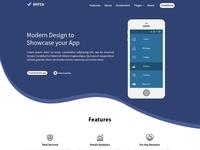Bepza - Creative App Landing Page Psd Template